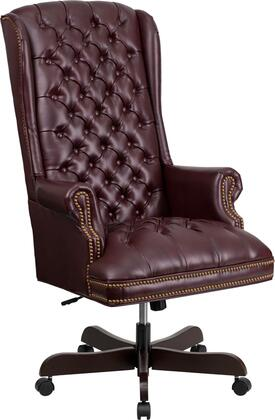 CI-360-BY-GG High Back Traditional Tufted Burgundy Leather Executive Office