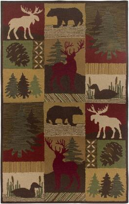 Couct206200120810 Country Ct2062-8 X 10 Hand-tufted New Zealand Wool Blend Rug In Brown  Rectangle