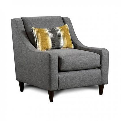 Orson SM8600-CH Chair with Solid Wood Tapered Legs  Piped Stitching and Fabric Upholstery in