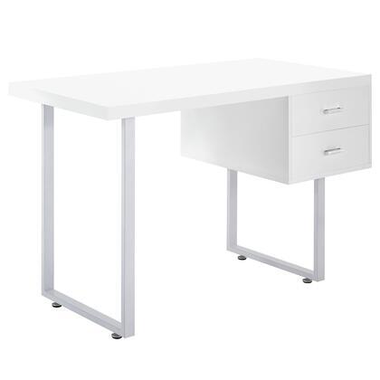 EEI-1184-WHI Turn Office Desk in White
