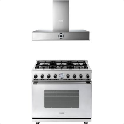 2-Piece Stainless Steel Kitchen Package with RN361GCSS 36 inch  Freestanding Natural Gas Range