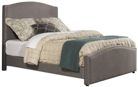 Kerstein Collection 1995BKR King Size Bed with Headboard  Footboard  Rails  Fabric Upholstery  Decorative Nail Head Trim and Sturdy Wood Construction in Orly