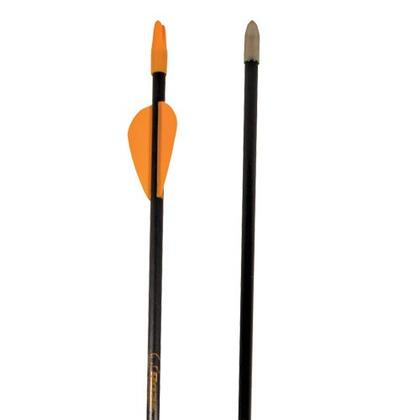 A1026 26 inch  Safetyglass 3-Pack Arrows with Nock and Points Installed and Pre-Fletched with