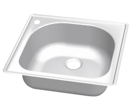 CMT2522-9DL Craftsmen Series Stainless Steel Single Bowl Topmount Sinks  Pre-Drilled Hole on