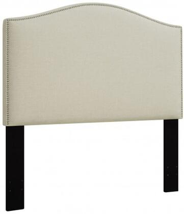 DS-D016-250-433 Fabric Upholstered Headboard For Full or Queen Bed with Nail Head Accents in