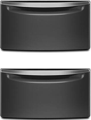 "(2x) 2XXHPC155YBD 15.5"" Laundry Pedestal with Storage Drawer and Chrome Handle in Black Diamond (2 Pedestal"