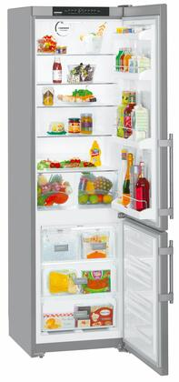 "CS1350B 24"" Energy Star Right Hinge Bottom Freezer Refrigerator with 13 cu. ft. Capacity  DuoCooling  FrostSafe  NoFrost and Ice Maker in Stainless"
