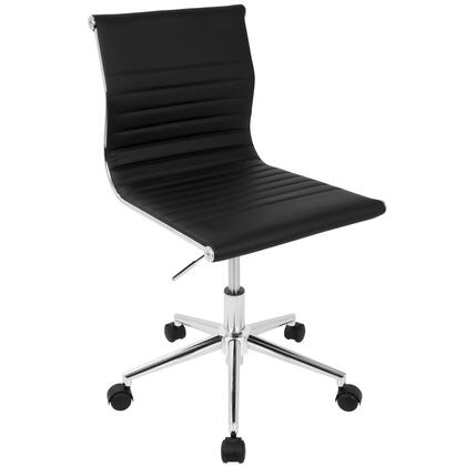 OC-MSTR BK Master Contemporary Armless Adjustable Task Chair in
