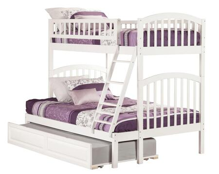 Richland AB64232 Twin Over Full Bunk Bed With Raised Panel Trundle Bed In