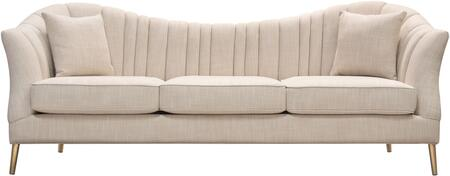 """Ava_Collection_AVASOSD_92""""_Sofa_with_Linen_Fabric_Upholstery__Slim_Metal_Legs_and_Vertical_Channel_Tufting_in"""