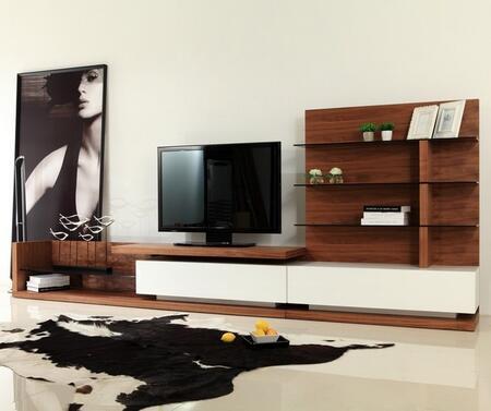 VGBB662N-WAL Modrest Jefferson Modern Walnut and White High Gloss TV