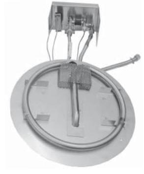 OCBP-2525P 16 Inch Stainless Steel Square Liquid Propane Burner Kit with Manual Valve and Piezo