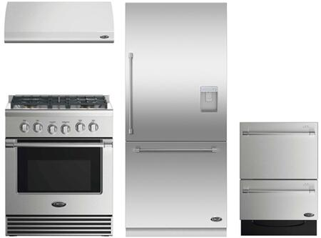 4 Piece Kitchen Package With RGV2304N 30