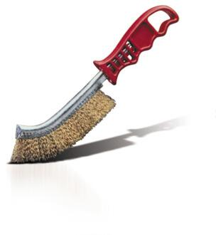 Panini Brass bristle brush with plastic