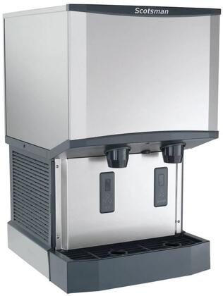 HID525A1 Meridian Ice Machine/Dispenser with Water Dispenser  H2 Nugget Ice  Air Cooled  Up To 500 Lbs. Production/24 Hour and 25 Lbs. Bin Storage