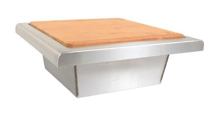 BLZ-TRC-CB Trash Chute with Cutting Board  304 Stainless Steel Construction and Curved