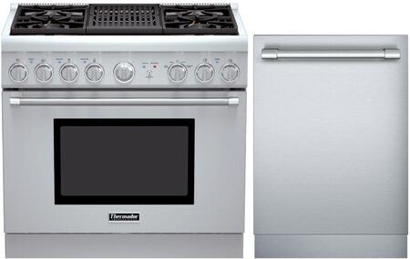 2-Piece Stainless Steel Kitchen Package With PRL364NLH 36