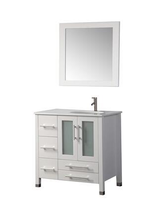 -2013W Sweden 36 Single Sink Bathroom Vanity Set