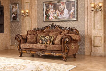 Sheraton 681-s 90 Sofa With Classic Imported Fabric Upholstery  Solid Wood Hand Carved Designs And Removable Backs In