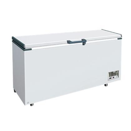 MXH21.2S Maxx Cold X-series Chest Freezer with 20.6 cu. ft.  Solid Hinged   Recessed Handle  Aluminum Interior  White Exterior   Light  Temperature Display