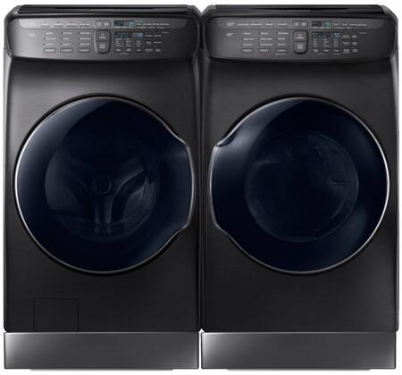 Black Stainless Steel Laundry Pair with WV55M9600AV 27