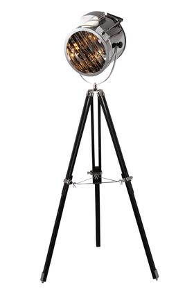 FL1204 Ansel Tripod Floor Lamp D: 11 H: 67 Lt: 1 Chrome & Black