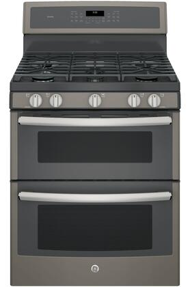GE Profile Series 6.8 Cu. Ft. Self-Cleaning Freestanding Double Oven Gas Convection Range Slate PGB960EEJES