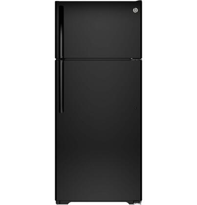 GTE18GTHBB Energy Star Rated 28 Top Freezer Refrigerator with 17.5 cu. ft.  3 Adjustable SpillProof Shelves  2 Humidity Crispers and Spill Proof