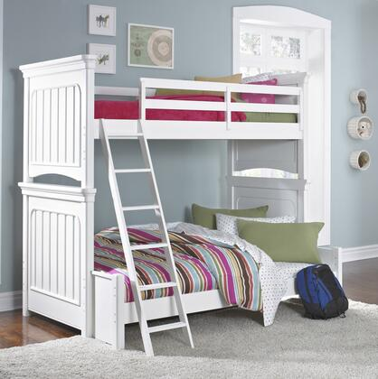 SummerTime Collection 8466-BR-K17 Twin Over Full Size Bunk Bed with Ladder  English Dovetail Joinery  Molding Details and Wood Construction in