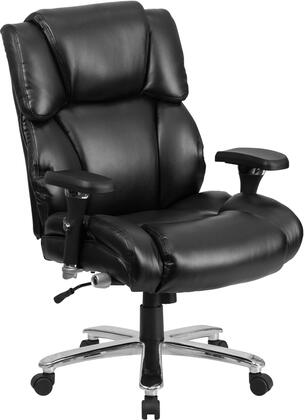 GO-2149-LEA-GG HERCULES Series 24/7 Intensive Use  Multi-Shift  Big & Tall 400 lb. Capacity Black Leather Executive Swivel Chair with Lumbar Support
