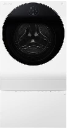 2-Piece Laundry Set with LUWM101HWA 24 inch  Washer/Dryer Combo and LUWD1CW 24 inch  SideKick