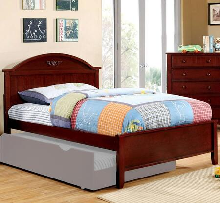 Medina Collection CM7942CH-F-BED Full Size Panel Bed with Sculpted Camel-Shaped Headboard  Low Profile Footboard  Tapered Legs and Solid Wood Construction in