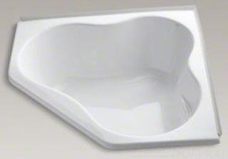 K-1155-F-0 White 54In Corner Bath