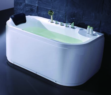 LK1103-R White Acrylic 5' Soaking Tub with