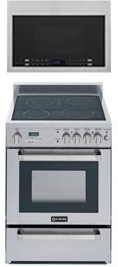 2-Piece Kitchen Package with VEFSEE244PSS 24 inch  Freestanding Electric Range and HMV1472BHS 24 inch  Over the Range Microwave Oven in Stainless