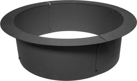 DM-FP-HDR 36 inch  DIY Fire Pit Ring with Round Shape and Steel Material in Black