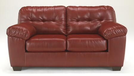 Alliston Collection 2010035 71 Loveseat with DuraBlend Upholstery  Plush Padded Arms  Tufted Detailing and Contemporary Style in
