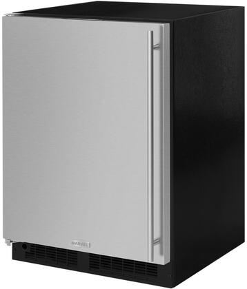 ML24RIS4LS 24 inch  Compact Refrigerator with Freezer  4.9 cu. ft. Total Capacity  Dynamic Cooling  Independent Temperature Control  in Stainless Steel and Left