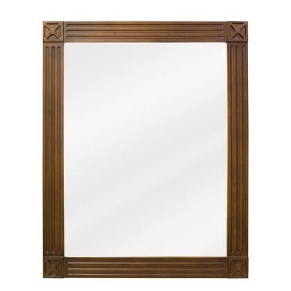 MIR047 Bath Elements 20 inch  x 25 inch  Toffee Hamilton Mirror with Beveled