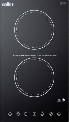 Summit CR2B15T1B 12 in. Radiant Electric Cooktop in Black with 2 Elements