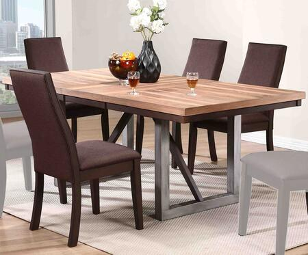 Spring Creek Collection 106581-S5 5-Piece Dining Room Set with Rectangular Dining Table and 4 Side Chairs in Natural Walnut and