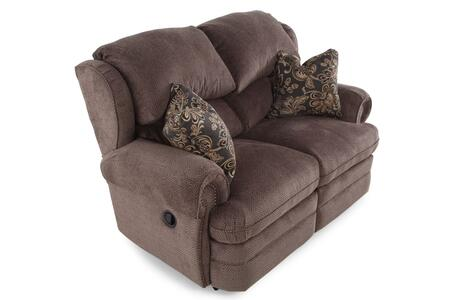 Hancock Collection 203-29/1426-14/1241-13 63 inch  Double Reclining Loveseat with Fabric Upholstery  Rolled Arms  Nail Head Trim and Traditional Style in Viper