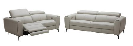 Lorenzo Collection 18824-SL 2-Piece Living Room Set with Reclining Sofa and Reclining Loveseat in Light