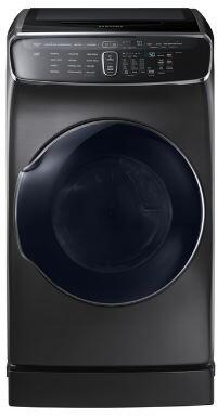 Samsung DVE60M9900V 7.5 Cu. Ft. Black Stainless Electric Dryer with FlexDry