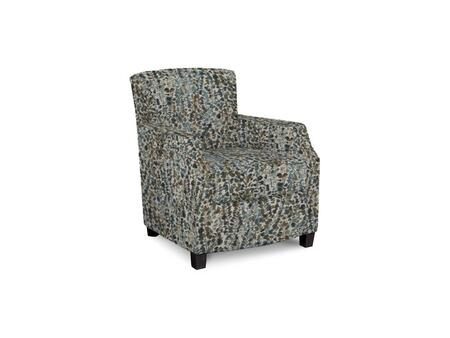 Comiskey Connection 1149-02/BE55-5 28 inch  Accent Chair with Fabric Upholstery  Tapered Wood Legs  Tight Back and Contemporary Style in Woven Floral