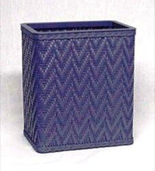S423WH Elegante Collection Decorator Color Wicker Wastebasket in