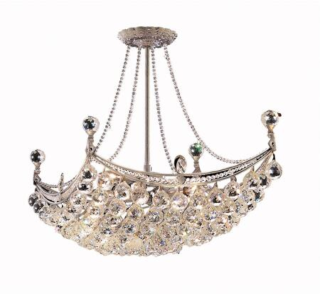 V9800D28C/EC 9800 Corona Collection Chandelier L:28 In W:16In H:20In Lt:8 Chrome Finish (Elegant Cut