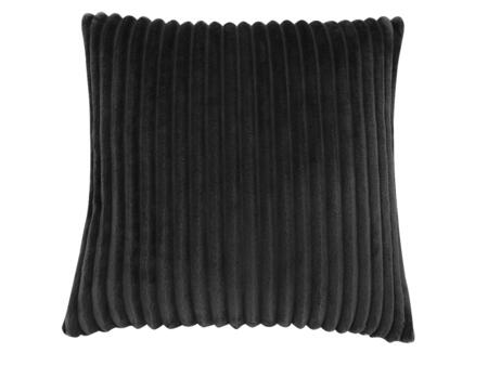 I 9356 18 inch  x 18 inch  Pillow with Textured Rib Cover in Black - 1