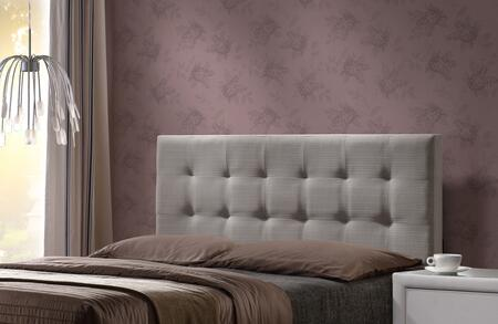 Duggan 1996HQR Queen Sized Bed with Headboard and Frame in Light Linen