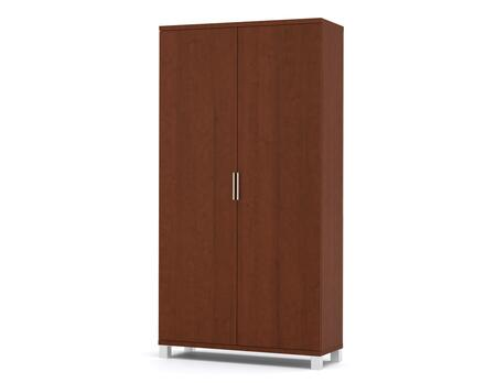 "Pro-Linea Collection 120716-1176 69"" Armoire with Simple Pulls and Block Feet in Cognac"